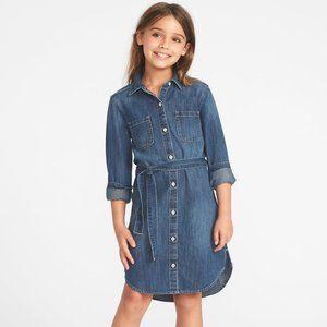 OLD NAVY Denim Dress Tunic Girls L (10-12)